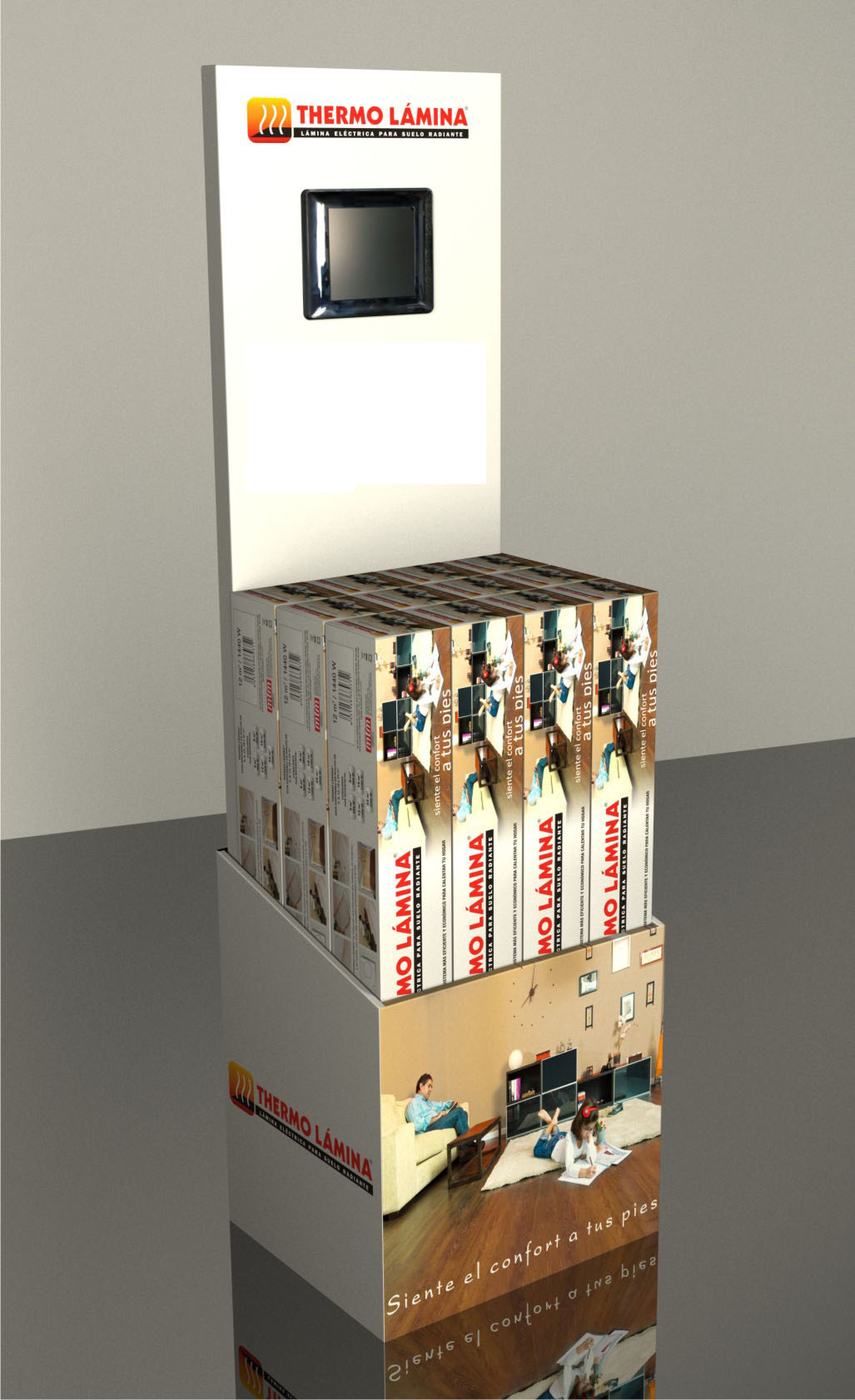 Zakelijk presentatie elektrische vloerverwarming van Thermo Lámina